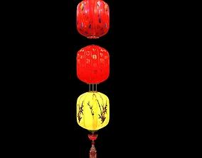 Chinese Red Lantern lantern 3D
