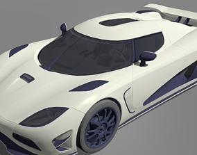 3D model rigged Koenigsegg Agera R