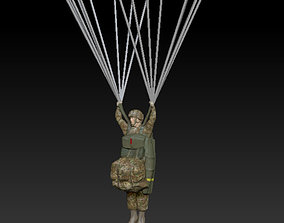 3D asset US Army Paratrooper - Low Poly