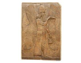 3D asset ASSYRIAN STATUE - BLESSING GENIE