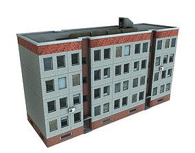 Panelbuilding - Plattenbau DDR - Russia 3D asset 2