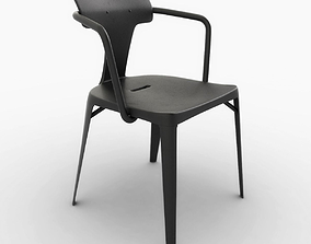 3D asset Tolix T14 Stainless Steel Chair