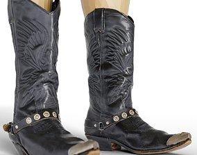 Boot Cowgirl Cowboy Footwear Men Women 3D model