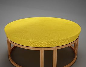 3D Classic 60s wood coffee table