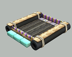 3D asset Raft - Low poly