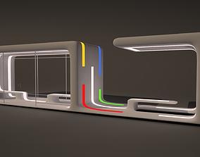 3D model Futuristic Bus Stop