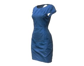 3D model Blue Dress Elegant