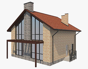 House With Interior 1 3D