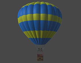 3D asset low-poly Hot Air Balloon air