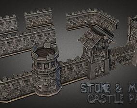Fantasy Stone Castle Pack 3D model