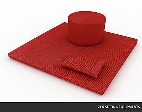 Zen Sitting Equipments 3D asset