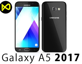 3D model Samsung Galaxy A5 2017 Black