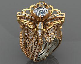 LOBORTAS HIGH-END WOMAN GOLD RING 3D printable model