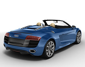 3D model Audi R8 Spyder 2010