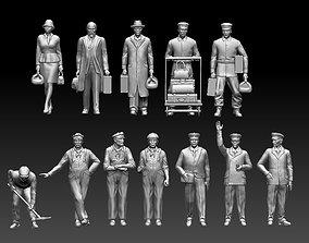 3D print model staff passengers