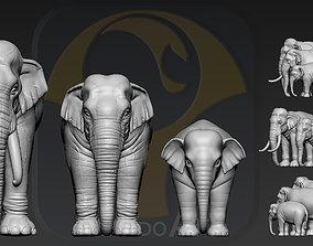 3D printable model Elephant asian