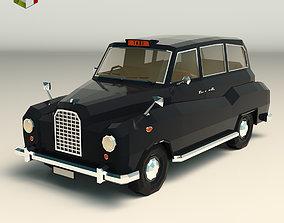 Low Poly Taxi Cab 03 3D asset
