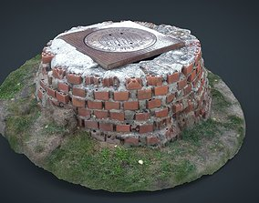 3D model Sewer with bricks