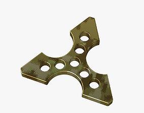 3D printable model Brass knuckles ninja star