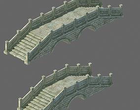 3D desert Ancient architecture - stone bridge