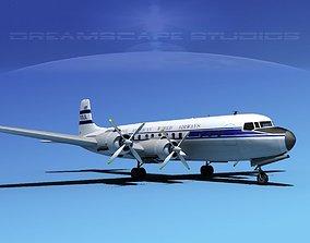 Douglas DC-7C Pan Am 1 3D model