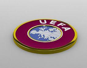 3D model uefa logo
