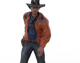 Realistic Cowboy 3D asset