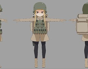 low-poly sword art online gun gale Fukaziroh 3d anime 2