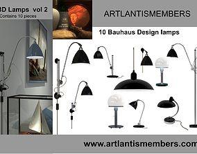 3D model bauhaus lamps vol2