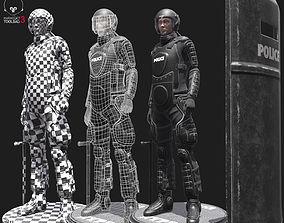 3D asset Riot Armor