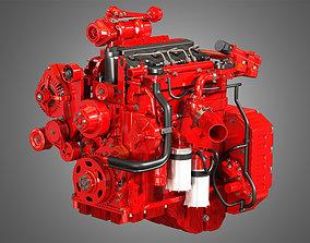 QSF 4 Cylinder - Diesel Engine 3D model