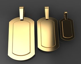 ID Bar Dogtag Pendant Mix Sizes 3D print model