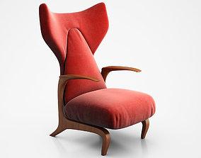 3D Carlo Mollino Lounge Chair 1950s
