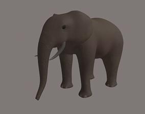 3D asset rigged Elephant