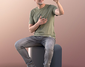 Will 10836 - Sitting Casual Guy 3D asset