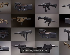 3D Submachinegun Set 2
