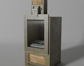 3D asset Low-Poly Newspaper Machine