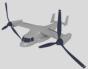 3D model Cartoon Osprey Vtol