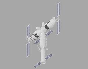 3D Cartoon Simple Space Station