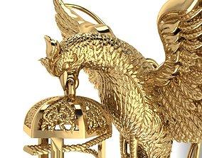 Phoenix pendant 3D printable model pendants