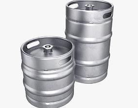 3D Beer keg set