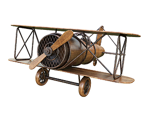 3D Children Aircraft Toy made of wood