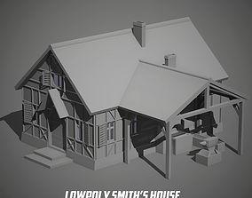 3D model game-ready Blacksmith house