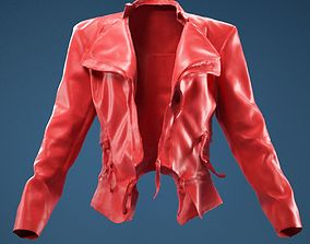 Flaps Leather Jacket Open 3D model