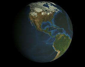 HD Animated Earth Model animated