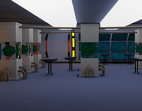 Scifi laboratory - low poly 3D asset realtime
