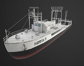 3D model Fishing trawler
