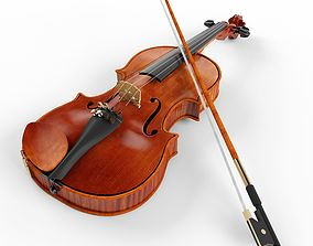 Violin and Bow 3D