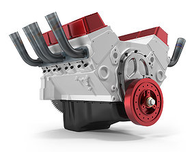 machine V8 Car Engine 3D model