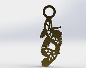 Koi Pendant 1 Crystal 3D print model